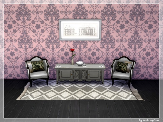 Loveley Dreams Wallpaper by schlumpfina at My Fabulous Sims image 1922 670x502 Sims 4 Updates