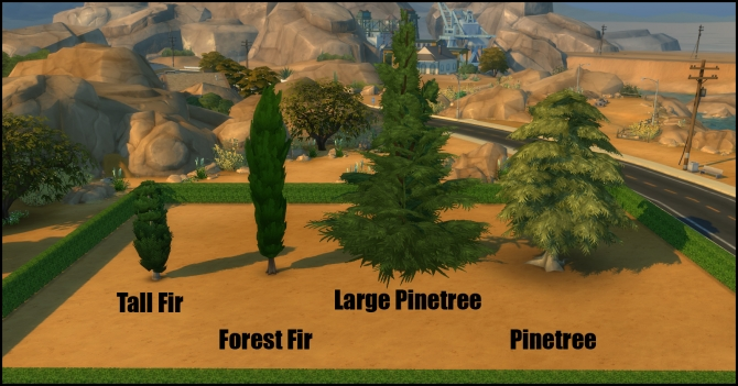 Unlocked Pinetree Pack (7 new trees) by Bakie at Mod The Sims image 1924 Sims 4 Updates