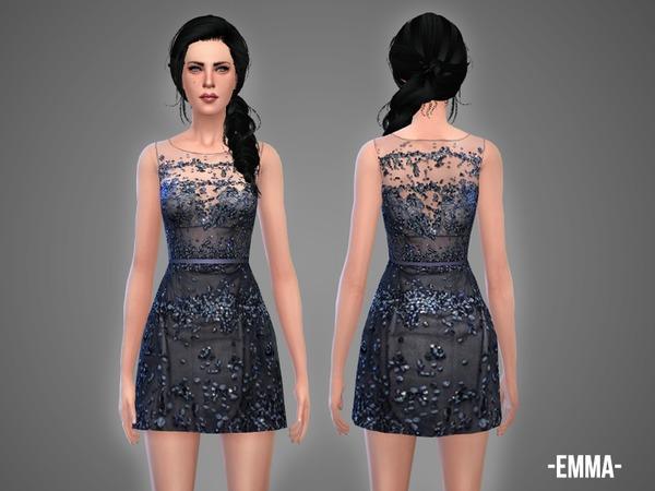 Sims 4 Emma dress by April at TSR