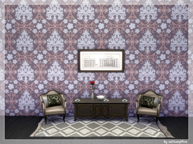 Loveley Dreams Wallpaper by schlumpfina at My Fabulous Sims image 1932 670x502 Sims 4 Updates