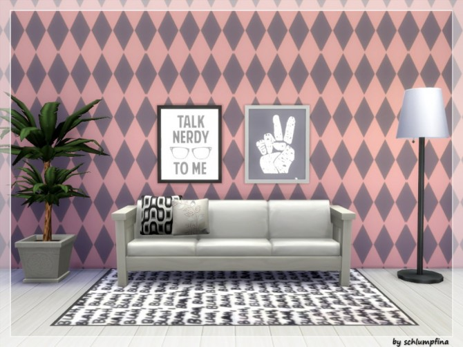 Loveley Dreams Wallpaper by schlumpfina at My Fabulous Sims image 1952 670x502 Sims 4 Updates