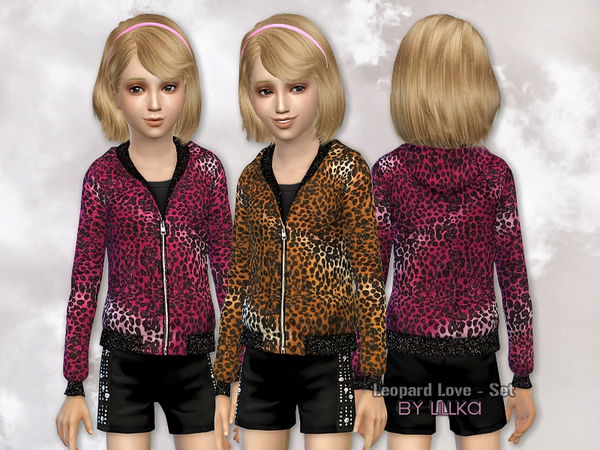 Leopard Love Set by lillka at TSR image 1964 Sims 4 Updates