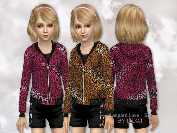 Sims 4 Leopard Love Set by lillka at TSR