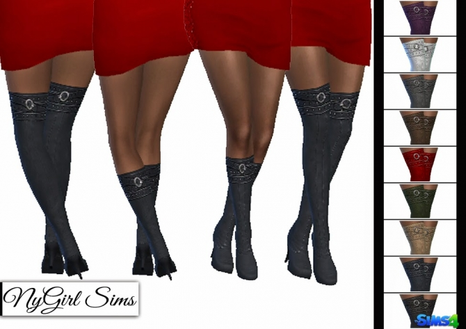 Belt Wrapped Boots at NyGirl Sims image 1998 Sims 4 Updates
