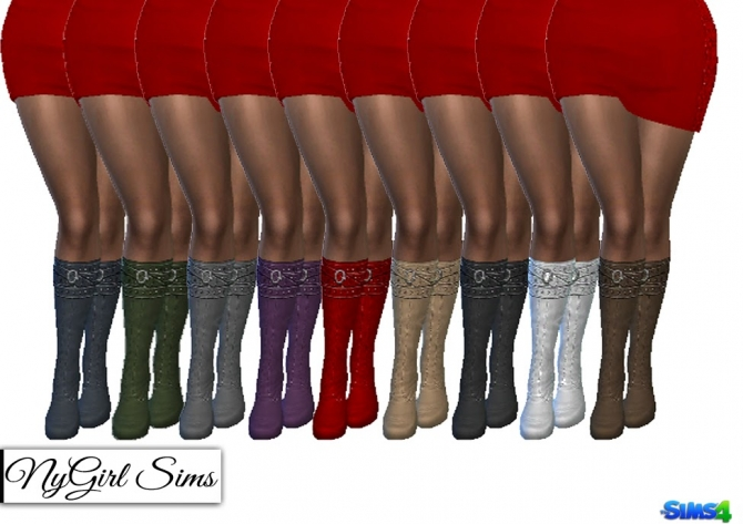 Belt Wrapped Boots at NyGirl Sims image 20115 Sims 4 Updates