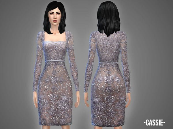 Sims 4 Cassie dress by April at TSR