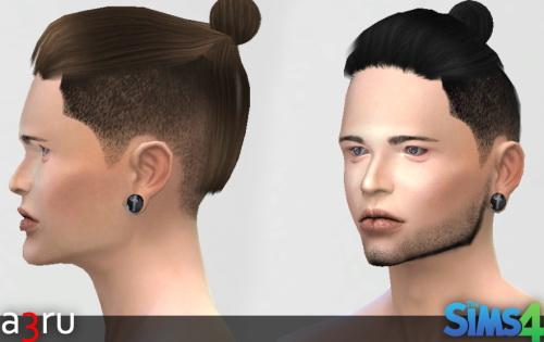 Sims 4 Raymond Man Bun Hair at A3RU