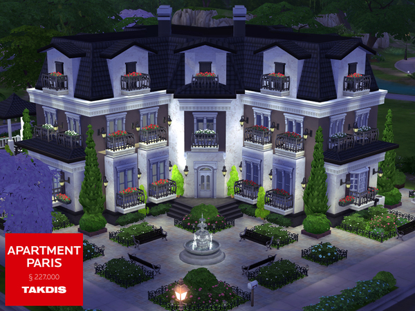 Sims 4 Apartment Paris by Takdis at TSR