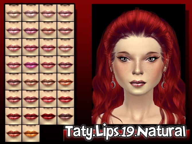 Sims 4 Natural lips 19 at Taty – Eámanë Palantír