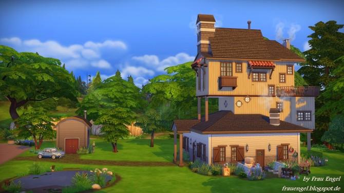 Sims 4 The Weasleys´ house by Julia Engel at Frau Engel