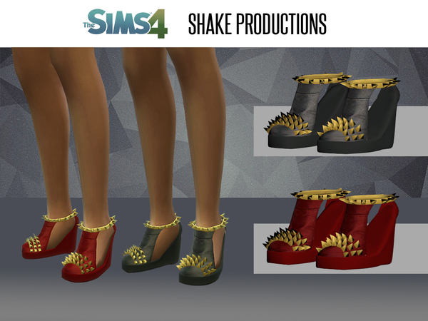 Sims 4 Studded shoes by ShakeProductions at TSR