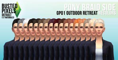 Sims 4 Hair and shirt recolors at Busted Pixels
