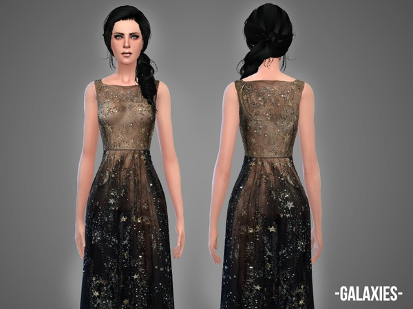 Sims 4 Galaxies gown by April at TSR