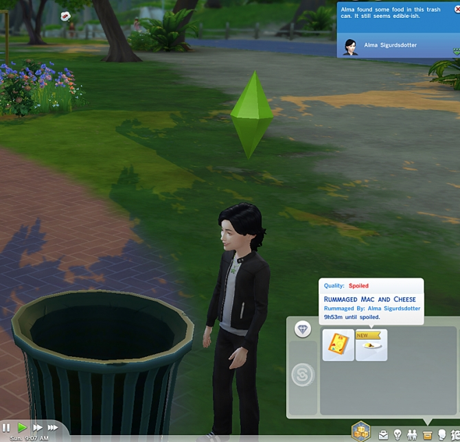 Sims 4 Rummage for Food Unlocked by KCrowns at Mod The Sims