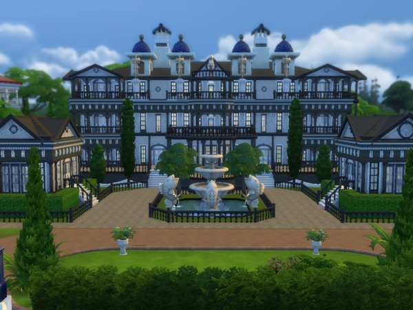Barons Mansion V2 By Tomostergreen At Tsr on sims 2 modern houses