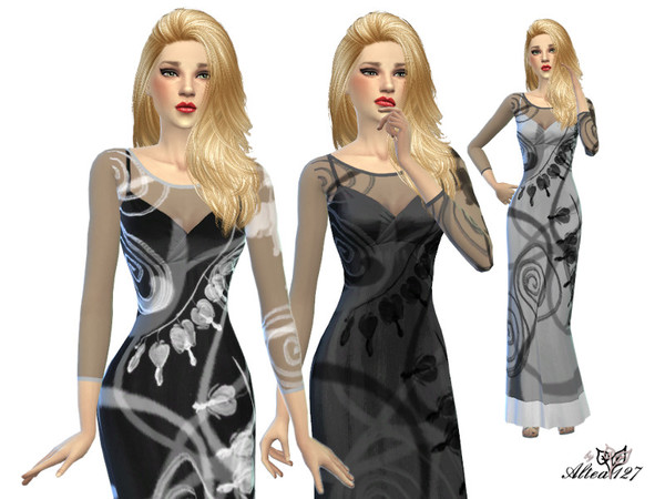 Long trasparent dress by altea127 at TSR image 2145 Sims 4 Updates