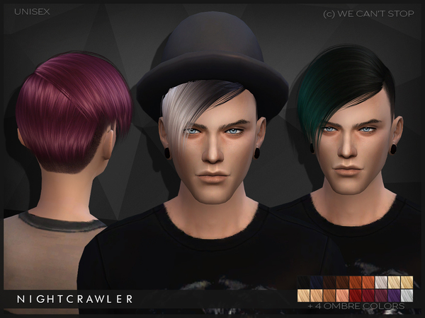 Sims 4 We Cant Stop hair by Nightcrawler at TSR