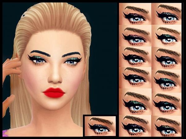 Sims 4 Glitter Cat Eyeshadow at Barbies Stuff