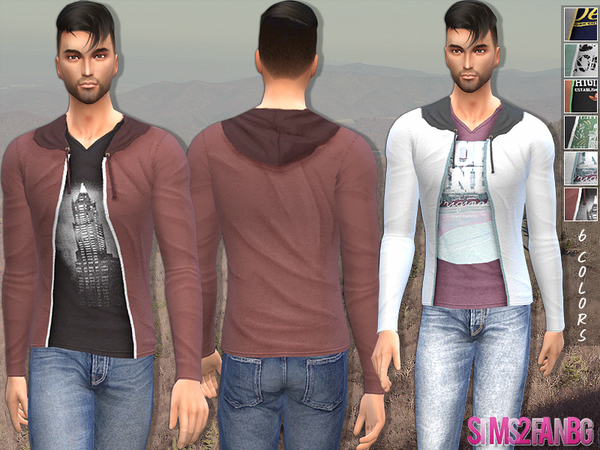 Sims 4 Male sweatshirt by sims2fanbg at TSR