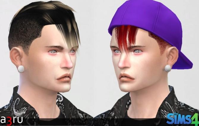 Sims 4 Adam Hair for TM EM at A3RU
