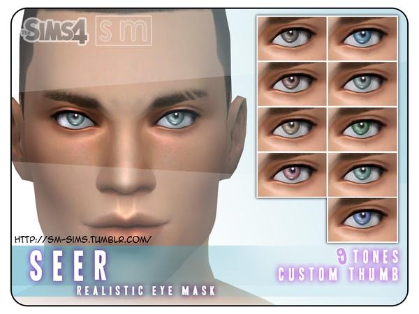 Sims 4 Realistic Eye Mask by Screaming Mustard at TSR