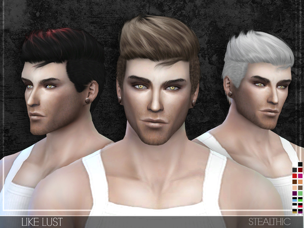 Hairstyles Updates: Like Lust Male Hair By Stealthic At TSR » Sims 4 Updates