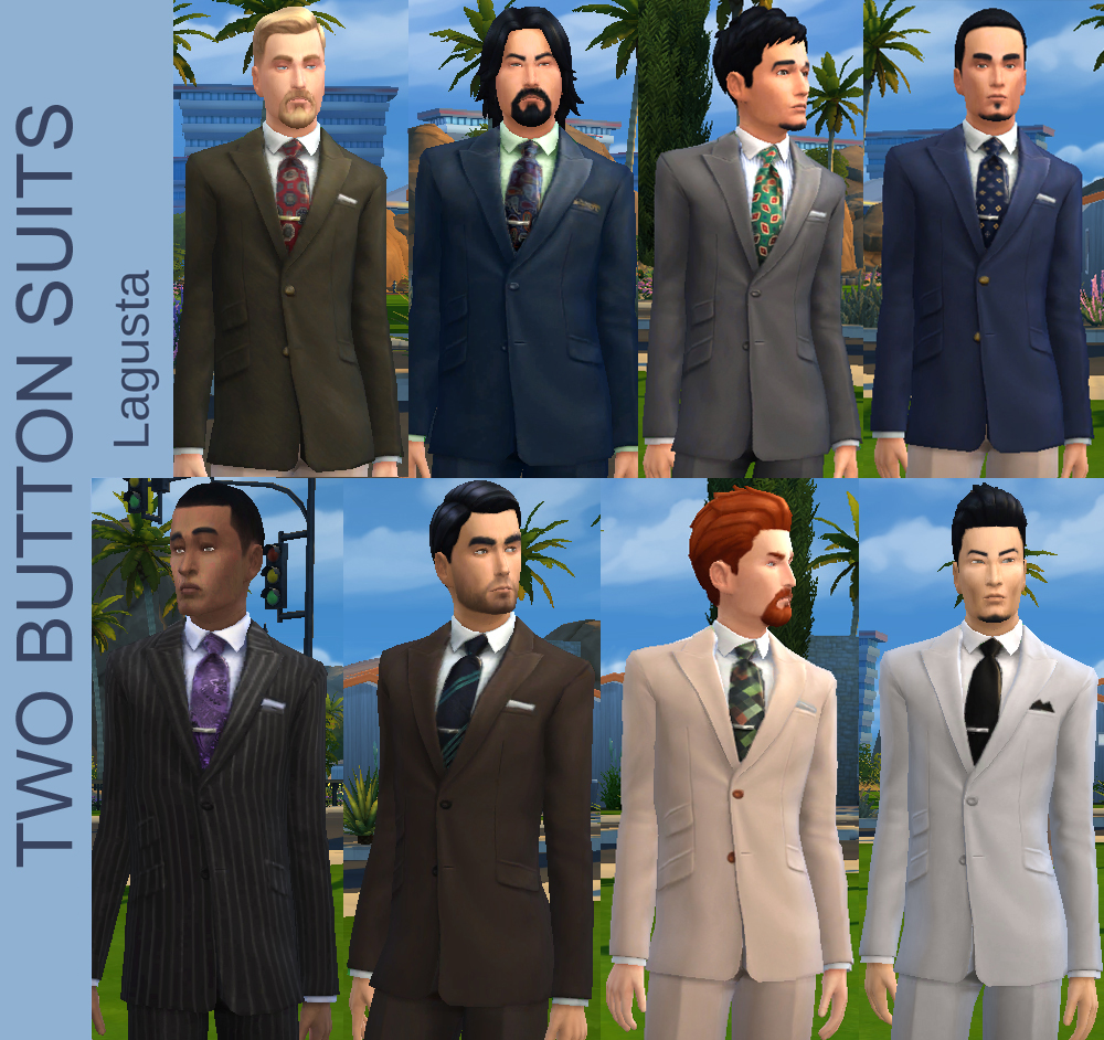 8 Two Button Suits By Lagusta At Mod The Sims 187 Sims 4 Updates