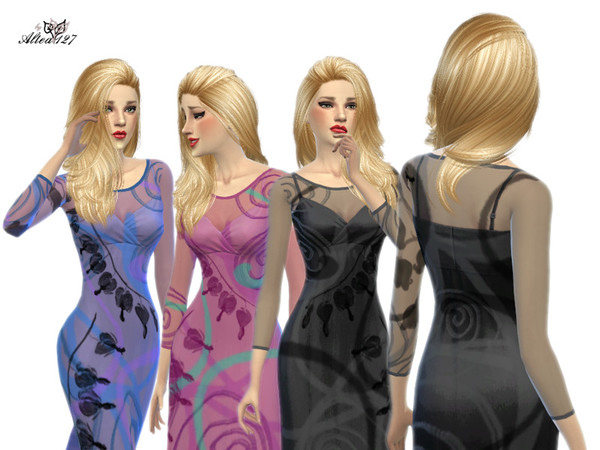 Long trasparent dress by altea127 at TSR image 2236 Sims 4 Updates