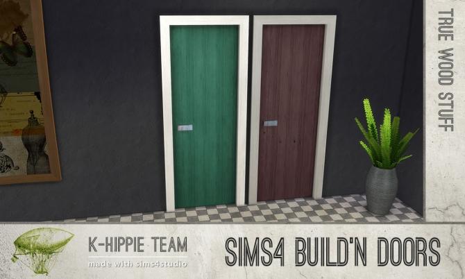 Sims 4 Build'n Doors True Wood Stuff at K hippie