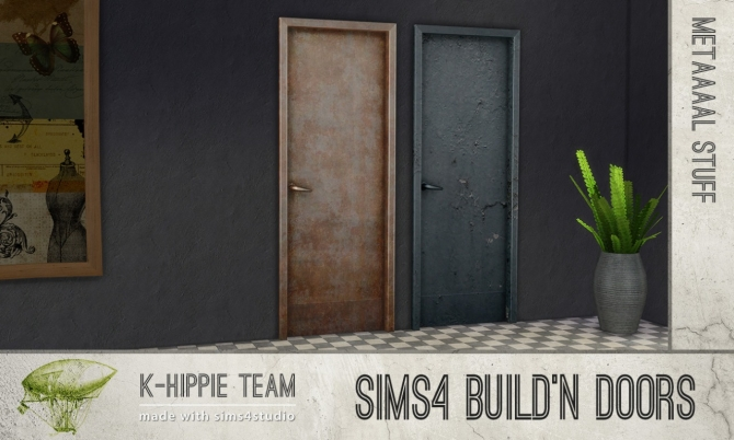 Sims 4 Build'n Doors Metaaal Stuff at K hippie