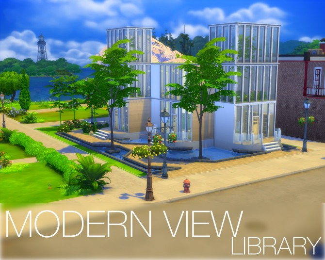 Modernview library by dajuberthelot at mod the sims sims for Modernview homes