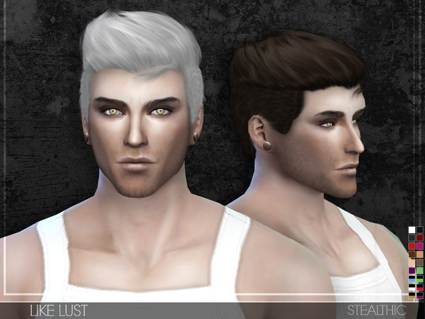 Sims 4 Like Lust Male Hair by Stealthic at TSR