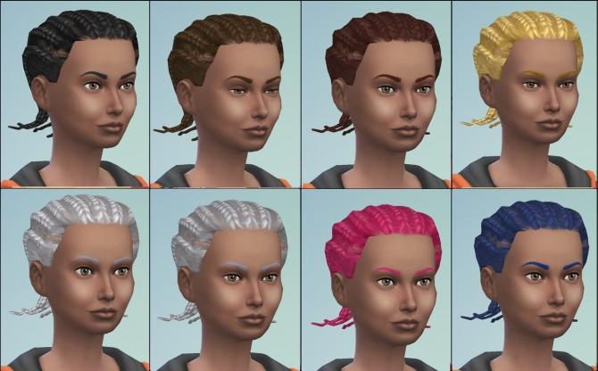 Pleasant S2 Male Cornrows Hair Conversion By Necrodog At Mod The Sims Short Hairstyles Gunalazisus