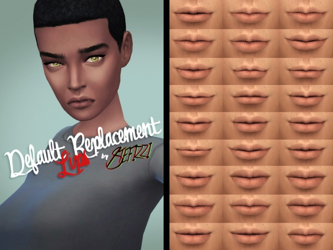 Sims 4 Default replacement lips at Stefizzi