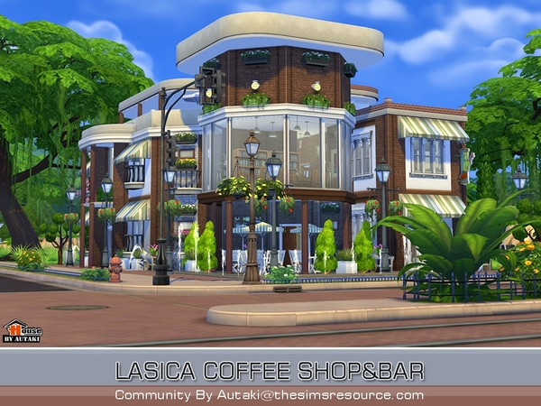 Lasica Coffee Shop by autaki at TSR image 237 Sims 4 Updates