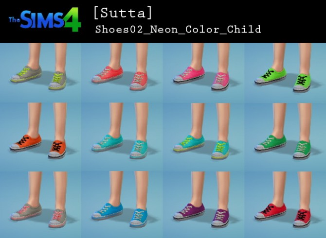 Neon shoes for kids at Sutta Sims4 image 238 670x490 Sims 4 Updates