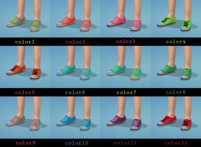 Neon shoes for kids at Sutta Sims4 image 240 670x490 Sims 4 Updates