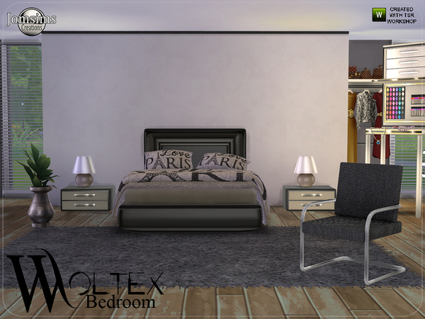Woltex bedroom by jomsims at TSR image 2425 Sims 4 Updates