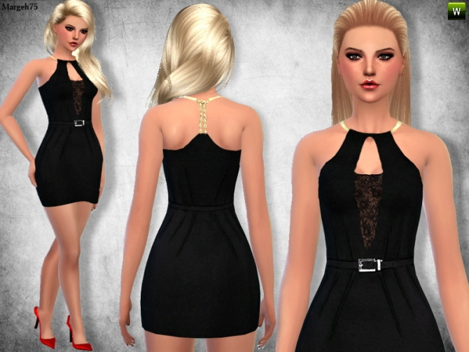 Lace Halter Mini dress by Margie at Sims Addictions image 2427 Sims 4 Updates