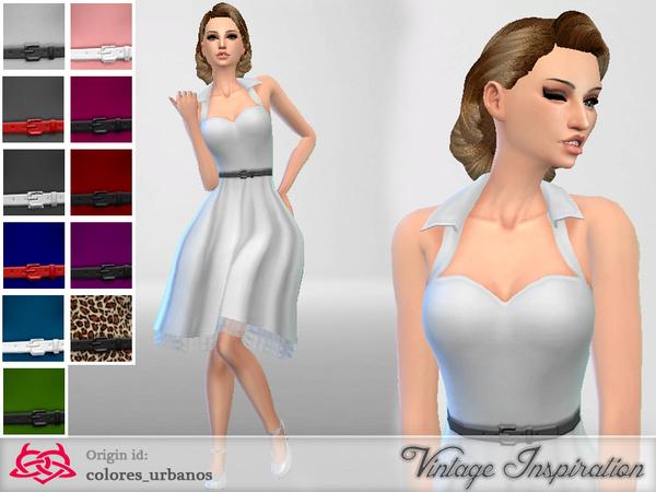 Sims 4 Rockabilly Dress v4 by Colores Urbanos at TSR