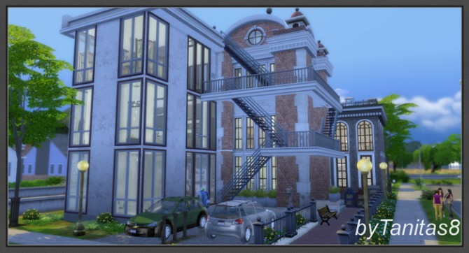 Sims 4 Zebra loft at Tanitas8 Sims