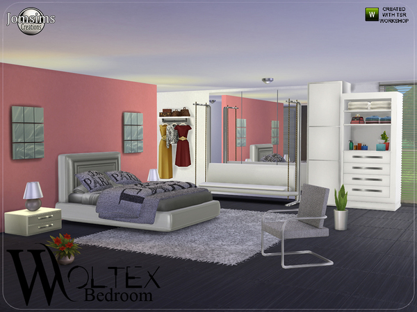 Sims 4 Woltex bedroom by jomsims at TSR
