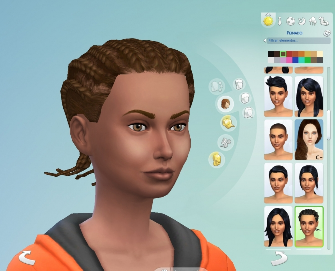Sims 4 S2 male cornrows hair conversion by necrodog at Mod The Sims