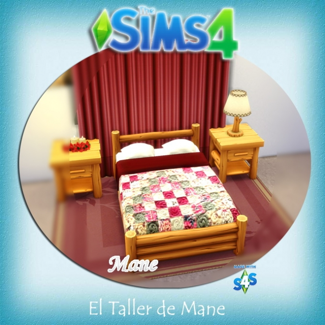 Sims 4 Double bed recolors at El Taller de Mane