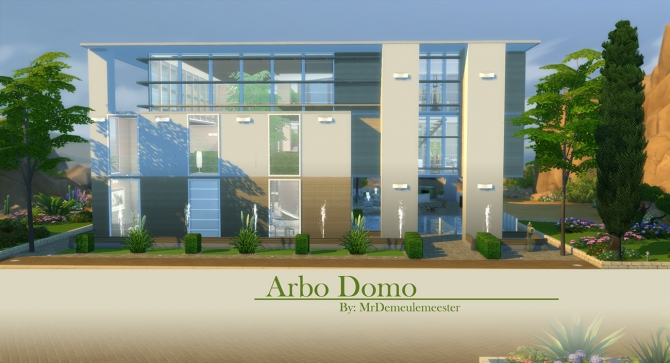 Arbo Domo house by MrDemeulemeester at Mod The Sims image 2622 Sims 4 Updates