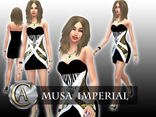 Sims 4 Musa Imperial dress by AlvaroCeballos at TSR