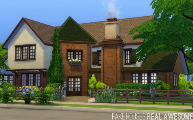 Oakendene house at Fake Houses Real Awesome » Sims 4 Updates