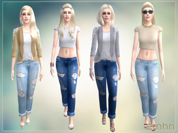 Easy Casual Trend Set by ernhn at TSR image 2822 Sims 4 Updates