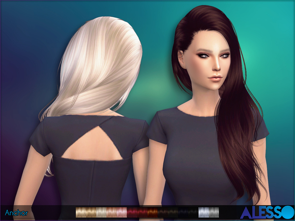 Anchor hair by Alesso at TSR image 290 Sims 4 Updates