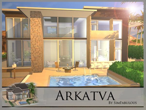 Arkatva house by SimFabulous at TSR image 30 Sims 4 Updates